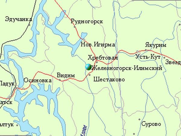 карта железногорска-илимского